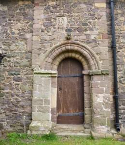 Church exterior and sheela na gig